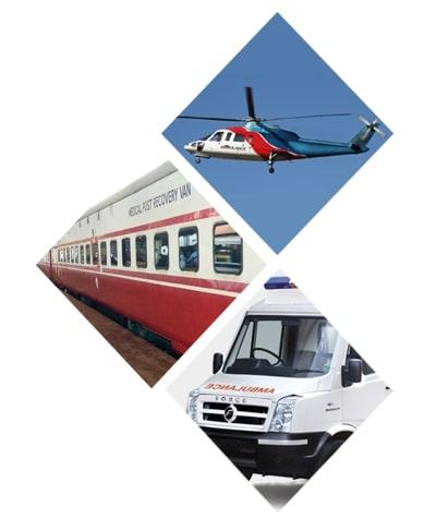 Angel Air and Train Ambulance Service in Delhi