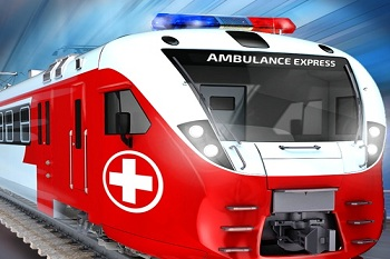Angel Train Ambulance Service in Delhi India